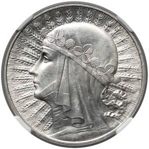 Głowa Kobiety 10 złotych 1933 - NGC MS61
