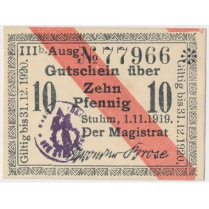 Stuhm (Sztum), 10 pfg 1919
