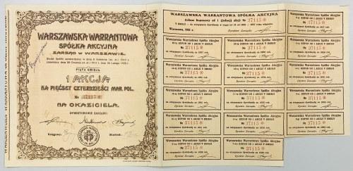 Warszawska Warrantowa Sp. Akc., Em.5, 540 mkp 1922