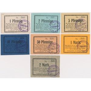 Langguhle (Golina), od 1 pfg do 2 mk 1920 (7szt)