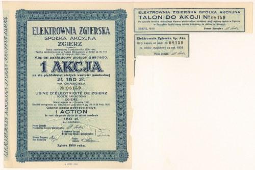 Elektrownia Zgierska, 150 zł 1930