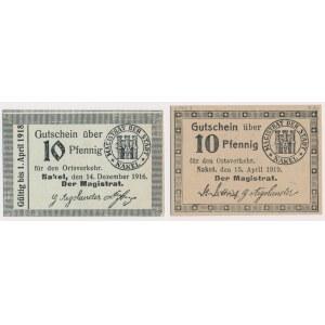 Nakel (Nakło), 10 pfg 1916 i 1919 (2szt)