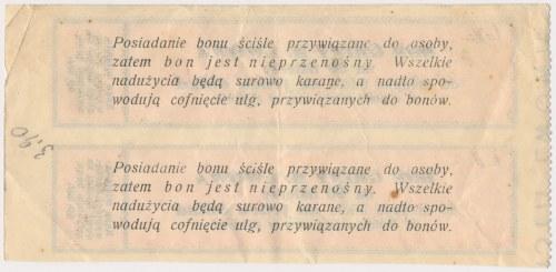 Lwów, Bon 60 halerzy na zakup 1 obiadu