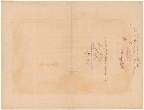 Kasa Oszczędności i Pożyczek Wekslowych w Śremie, 50 talarów 1874