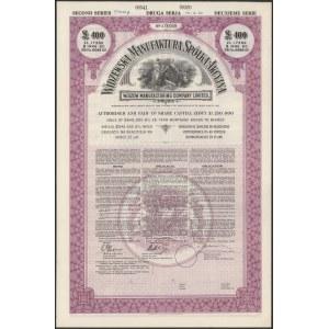 Widzewska Manufaktura SPECIMEN Obligacja na 400 funtów 1930