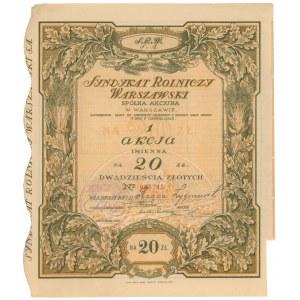 Syndykat Rolniczy Warszawski, 20 zł 1926 - imienna