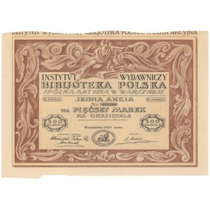 Instytut Wydawniczy Bibljoteka Polska, Em.2, 500 mkp 1921