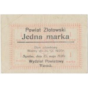 Sępólno, 1 marka 1920