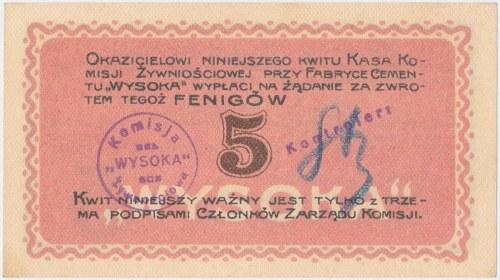 Wysoka, Komisja Żywnościowa, 5 fenigów 1917