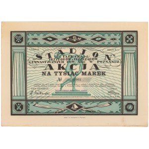 Stadjon Fabr. Przyborów i Przyrządów Gimnastycznych, Em.1, 1.000 mkp