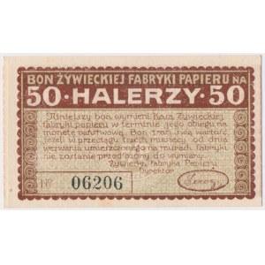 Żywiec, Fabryka Papieru, 50 halerzy (1919)