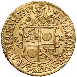 Austria, Salzburg, Wolf Dietrich von Raitenau, Dwudukat 1597 - b. ładny