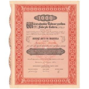 Warszawskie Tow. Fabryk Cukru, Em.3, 10x 100 zł 1937