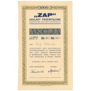 Zakłady Przemysłowe Zap w Bydgoszczy, 10 x 100 zł 1928