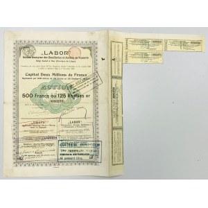Labor Towarzystwo Akcyjne Emalierni i Warsztatów, 500 fr = 125 rub 1896