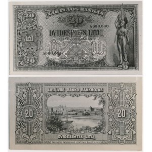 PHOTO-PROJECT Lithuania 20 lithu 1930 (obverse and reverse)