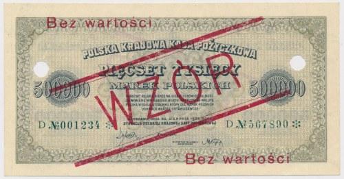 WZÓR 500.000 mkp 1923 - 6 cyfr - D - perforacja