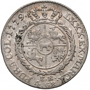 Poniatowski, Złotówka 1779 EB - rzadki rok