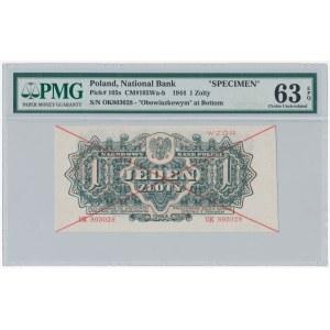 WZÓR 1 złoty 1944 ...owym - OK - PMG 63 EPQ