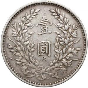 Chiny, Yuan Shi-kai, 1 dolar 1914 - kontramarkowany