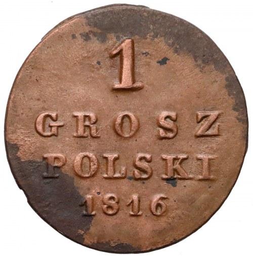 1 grosz polski 1816 IB - b.ładny
