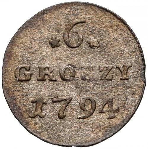 Poniatowski, 6 groszy 1794 - tarcza typ 2 - zamknięta 4