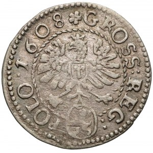 Zygmunt III Waza, Grosz Kraków 1608 - późny styl
