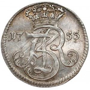 August III Sas, Trojak Gdańsk 1755 - czyste srebro - RZADKI