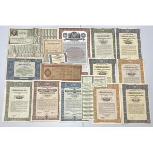 II RP zestaw obligacji, biletów skarbowych itp. (14szt)