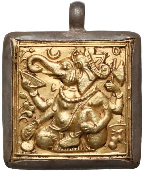 Indie, Medalion złocony - Ganeśa