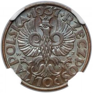 5 groszy 1937 - NGC MS64 BN