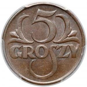 5 groszy 1928 - PCGS MS63 BN