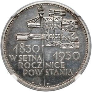 Sztandar 5 złotych 1930 - NGC UNC