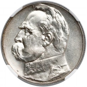 Piłsudski 5 złotych 1934 - urzędowy - NGC MS62