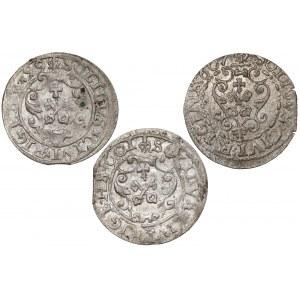 Zygmunt III Waza, Szelągi Ryga 1599-1607 - Wulffa (3szt)