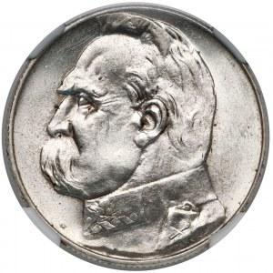 Piłsudski 5 złotych 1935 - NGC MS63