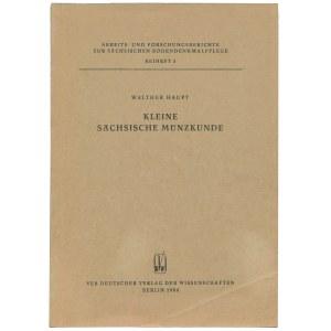Kleine Sachsische Munzkunde, Haupt, 1968