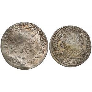 Zygmunt III Waza, Grosz Wilno 1608 i 1626 (2szt)
