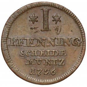 Brunszwik-Calenberg-Hannover, 1 fenig 1726
