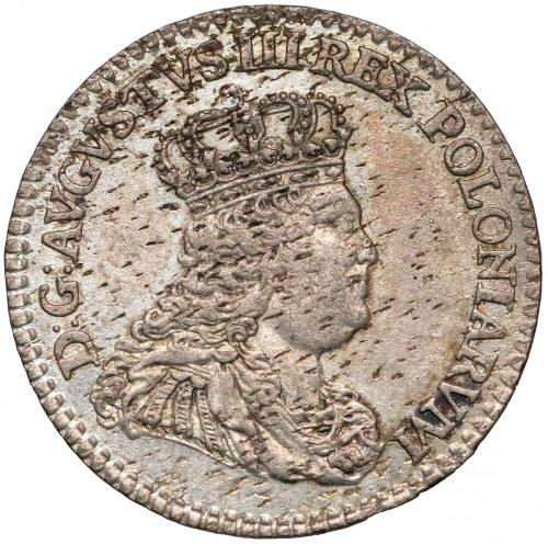 August III Sas, 1/2 szóstaka (Trojak) Lipsk 1753 - 1/2 Sz - rzadkie