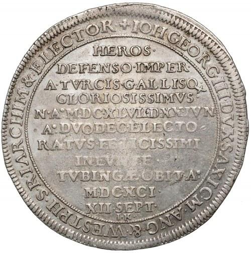 Saksonia, Talar pośmiertny 1691 I.K.