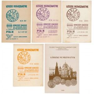 Łódzki Numizmatyk, Zestaw z lat 1975-1979 i 2005 (5)