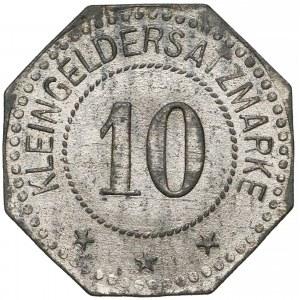 Neustettin (Szczecinek), 10 fenigów Zn/Ni - bardzo rzadkie