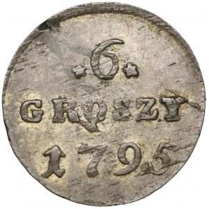 Poniatowski, 6 groszy 1795 - cyfry szeroko