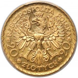 20 złotych 1925 Chrobry - PCGS MS63