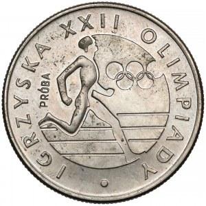 Próba MIEDZIONKIEL 20 złotych 1980 Olimpiada (biegacz)