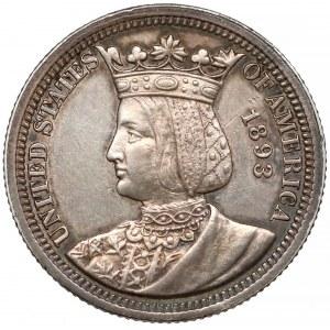USA, 1/4 dolara 1893 - Isabella quarter - RZADKIE