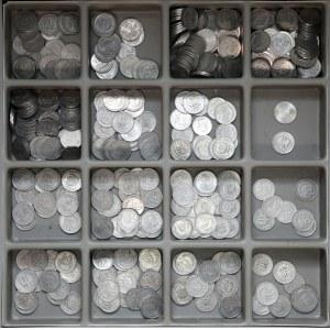 PRL zestaw monet, głównie 20 groszy