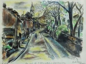 Michel Adlen (1898 – 1980), Rue de l'Abreuvoir à Montmartre