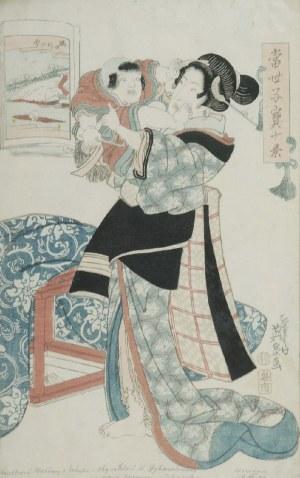 Keisai EISEN (1790-1848), Kobieta z chłopcem